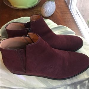 FRANCO SARTO BURGUNDY BRUNO BOOTIES SIZE 11M